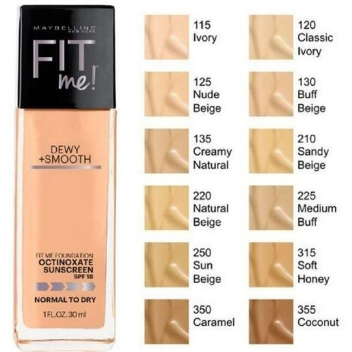 Maybelline Fit ME Dewy +Smooth Foundation