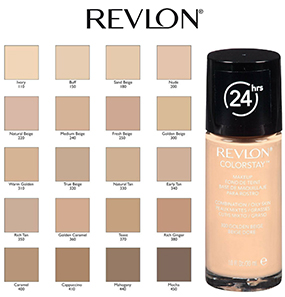 Revlon colorstay makeup for combination oily skin